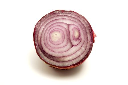 visible: Close-up of red onion with visible rings Stock Photo