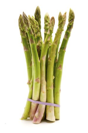 Bunch of asparagus on a white background Stock Photo - 5396652