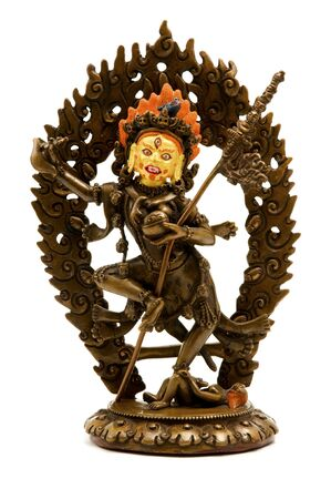 yogini: Statue of Vajrayogini on a white background