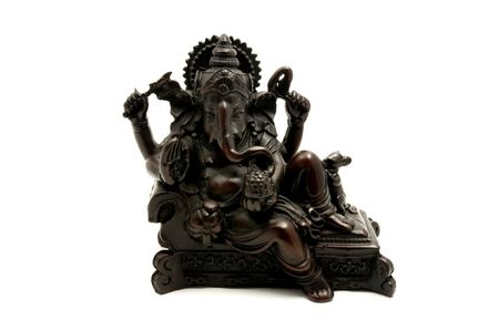 hinduist: Statue of the hinduist god Ganesha on a white background