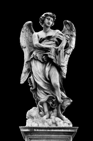 Angel with the Whips on Ponte SantAngelo, Rome, Italy