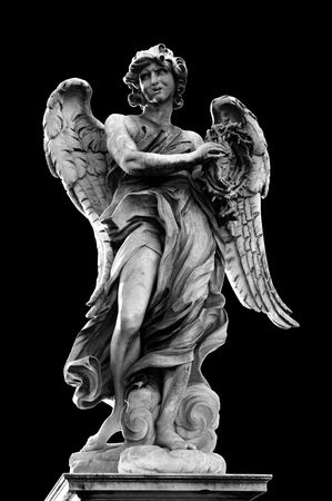 angel statue: Angel with the Crown of Thorns on Ponte SantAngelo, Rome