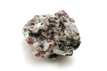 felsic: Pink granite on a white background