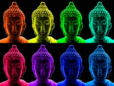 chillout: Buddha portraits in a pop art style