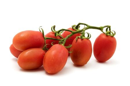 Roma tomato on a white background