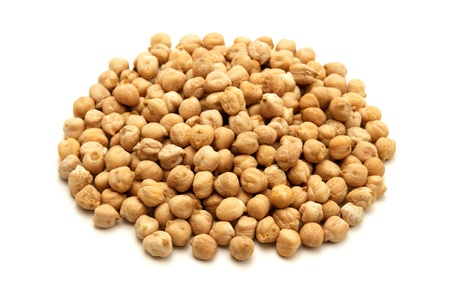 chickpeas: White chickpeas on a white background