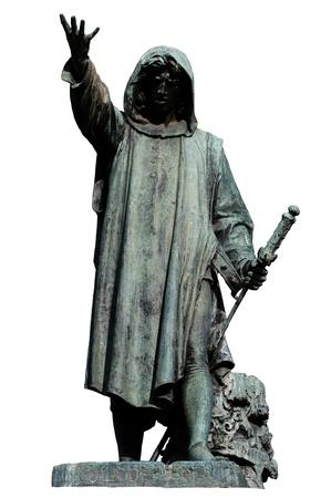 Statue of Cola Di Rienzo by Girolamo Masini on a white background Stock Photo - 8949970