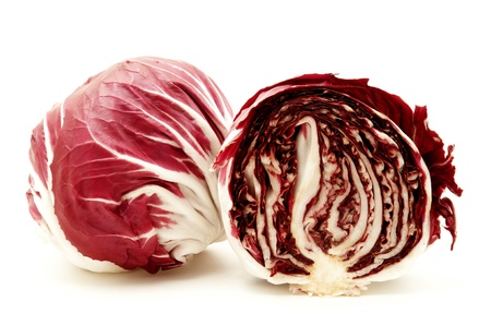 Radicchio (rosso di verona) on a white background photo