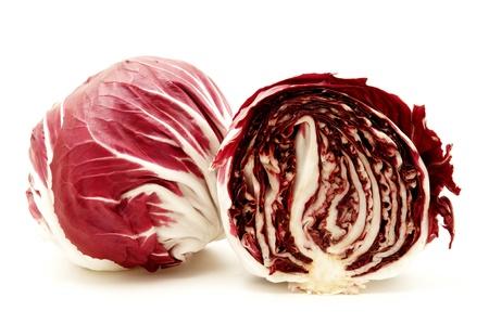 Radicchio (rosso di verona) on a white background photo