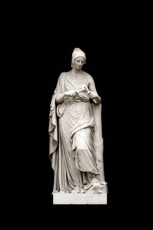 allegorical: Allegorical sculpture (Euritmia) by Valeriano Salvatierra y Barriales, Museo del Prado, Madrid
