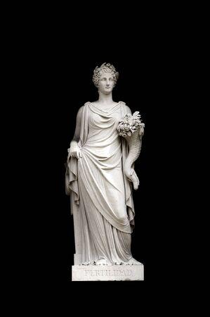 allegorical: Allegorical sculpture (fertility) by Valeriano Salvatierra y Barriales, Museo del Prado, Madrid