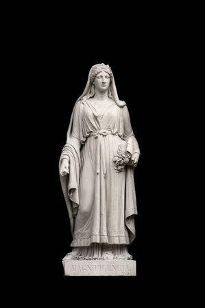the magnificence: Allegorical sculpture (magnificence) by Valeriano Salvatierra y Barriales, Museo del Prado, Madrid Stock Photo