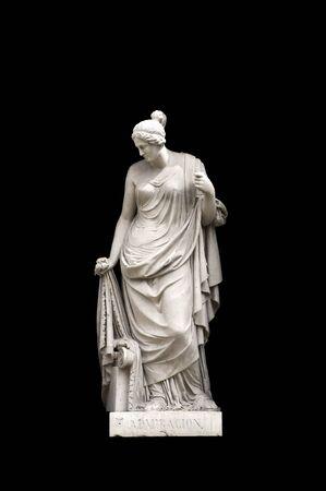 allegorical: Allegorical sculpture (admiration) by Valeriano Salvatierra y Barriales, Museo del Prado, Madrid