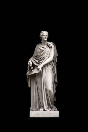 allegorical: Allegorical sculpture (architecture) by Valeriano Salvatierra y Barriales, Museo del Prado, Madrid Stock Photo