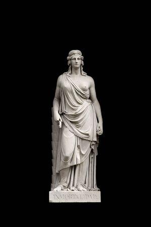 allegorical: Allegorical sculpture (immortality) by Valeriano Salvatierra y Barriales, Museo del Prado, Madrid Stock Photo