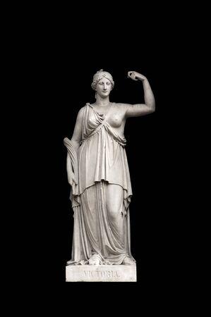 allegorical: Allegorical sculpture (Victory) by Valeriano Salvatierra y Barriales, Museo del Prado, Madrid