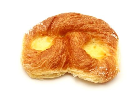 Danish pastry with custard on a white background Stock Photo - 9663982