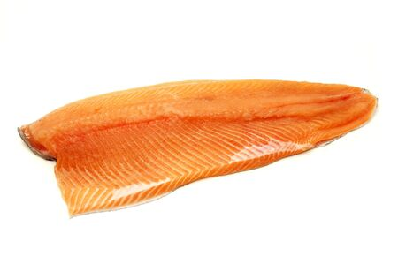 Rainbow trout fillet on a white background photo