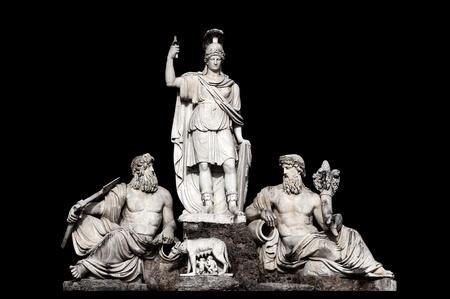 tevere: Fontana della Dea Roma tra il Tevere e lAniene by Giovanni Ceccarini in Piazza del Popolo, Rome Italy