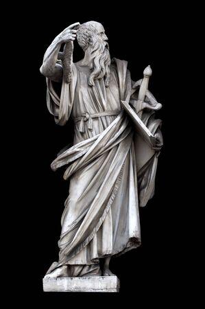 francesco: Saint Paul by Francesco Mochi on Porta del Popolo, Rome, Italy