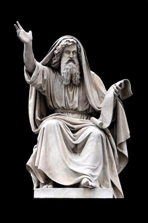 neoclassic: Ezekiel by Carlo Chelli on the base of the Colonna dellImmacolata, Rome Italy