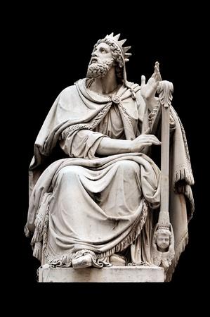 immaculate: Rey David por Adamo Tadolini sobre la base de la Inmaculada de Colonna, Italia Roma