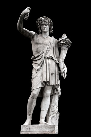 allegorical: Allegorical sculpture (Autumn) by Achille Stocchi in Piazza del Popolo, Rome Italy Stock Photo