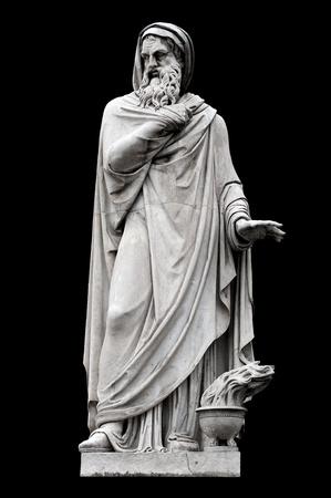 felice: Allegorical sculpture (Winter) by Felice Raini in Piazza del Popolo, Rome Italy