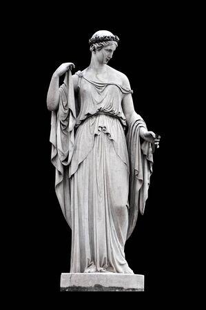 allegorical: Allegorical sculpture (Spring) by Filippo Gnaccarini in Piazza del Popolo, Rome Italy Stock Photo