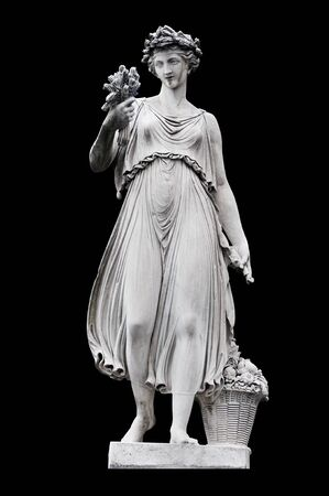 allegorical: Allegorical sculpture (Summer) by in Piazza del Popolo, Rome Italy