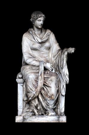 diosa griega: Estatua de Higía en ninfeo del Pincio, Roma Italia