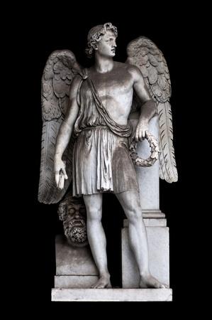 Angel de la paz por Alessandro Massimiliano Laboureur en ninfeo del Pincio, Roma Italia Foto de archivo