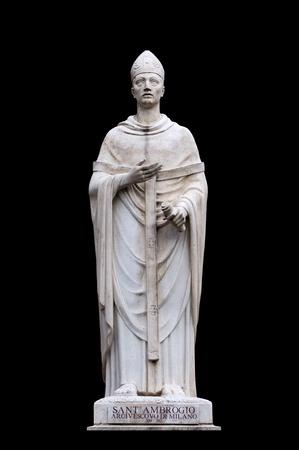 arturo: Saint Ambrose by Arturo Dazzi  in San Carlo al Corso, Rome Italy