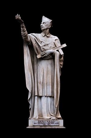 neoclassic: Saint Charles Borromeo by Attilio Selva in San Carlo al Corso, Rome Italy