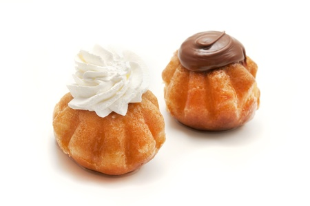 rum baba: Rum Baba on a white background