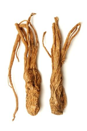 angelica sinensis: Angelica sinensis on a white background