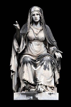 allegorical: Allegorical sculpture (Charity) by Francesco Fabi-Altini , Campo Verano, Rome Italy