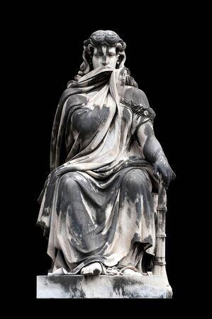 neoclassic: Allegorical sculpture (Silence) by Giuseppe Blasetti, Campo Verano, Rome Italy