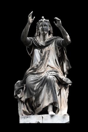 allegorical: Allegorical sculpture (Hope) by Stefano Galletti , Campo Verano, Rome Italy