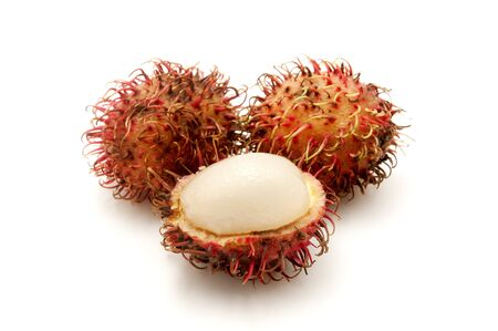 rambutan: Rambutans on a white background