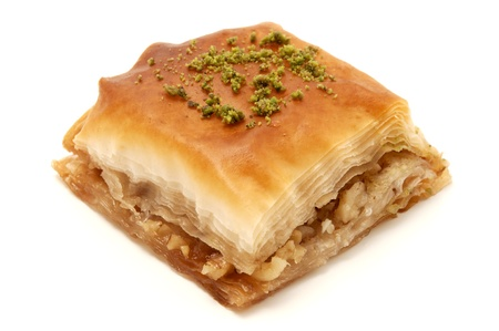Baklava on a white background photo