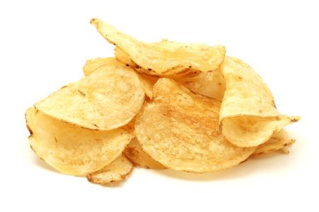 papas: Papas fritas en un fondo blanco