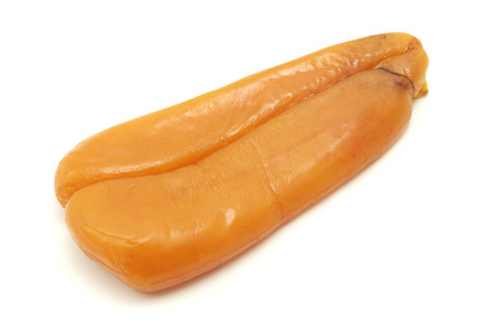 Bottarga di Muggine on a white background Stock Photo