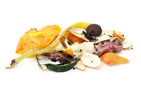 close up food: Food waste on a white background