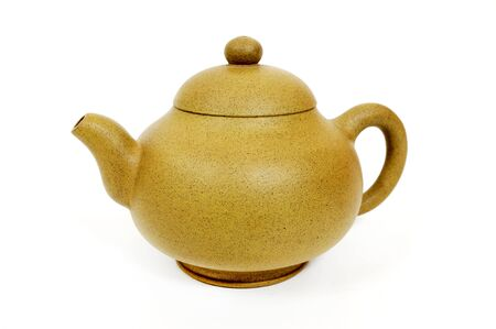 chinese tea pot: Traditional chinese tea pot on a white background