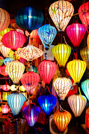 hoi an: Colorful lanterns in Hoi An, Vietnam