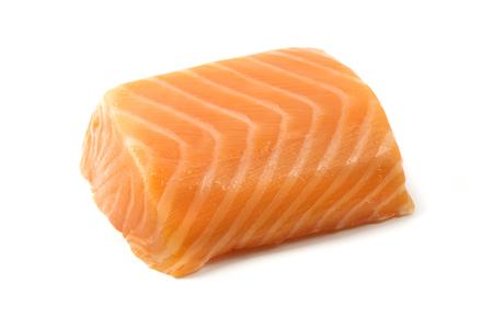 Smoked salmon fillet on a white background