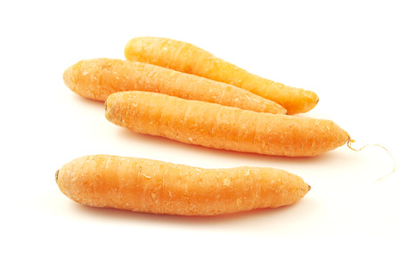 Orange carrots on a white background