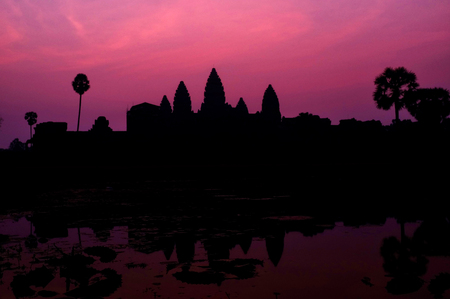 Silhouette of Angkor Wat, Siem Reap, Cambodia