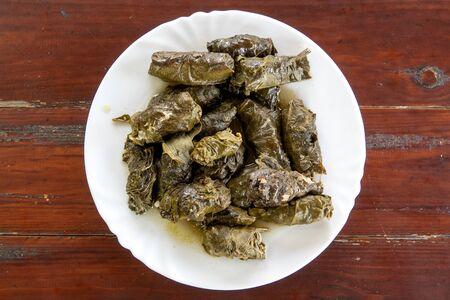 Plate of Azerbaijani dolma
